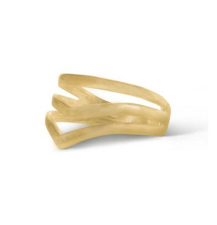Enamel V-Shape Gold